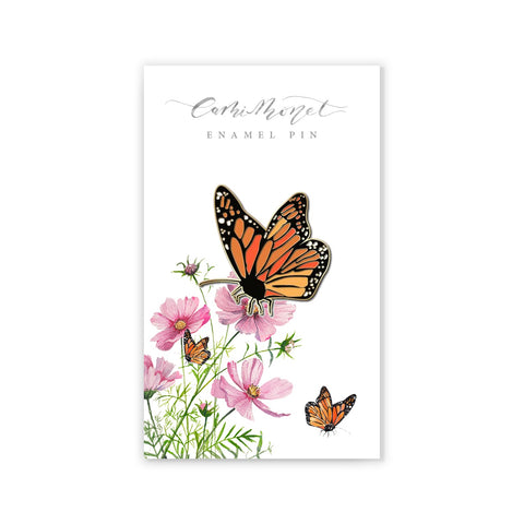Monarch Butterfly Enamel Pin Cami