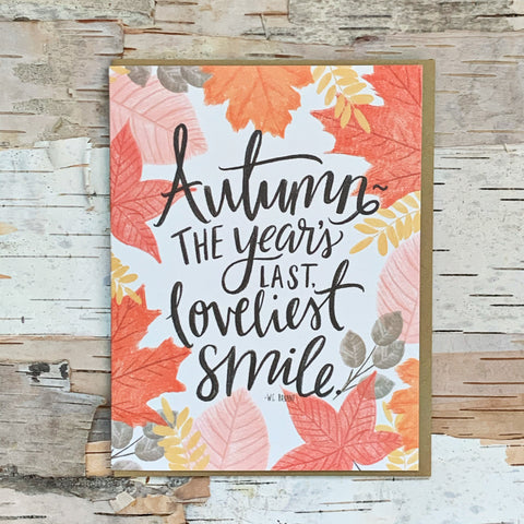 Autumn Smile Card