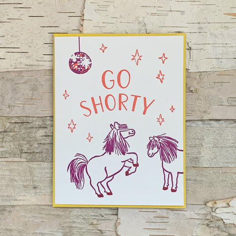 Go Shorty Dancing Ponies Card