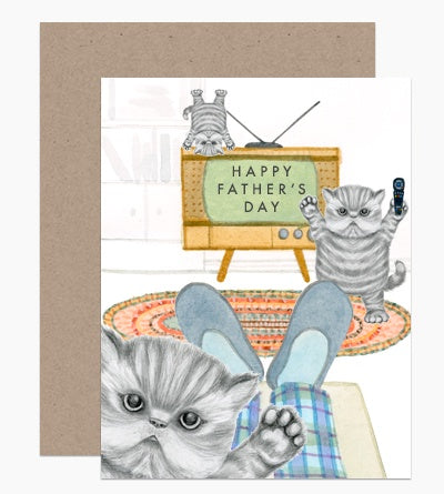 Naughty Kitties Father's Day Card