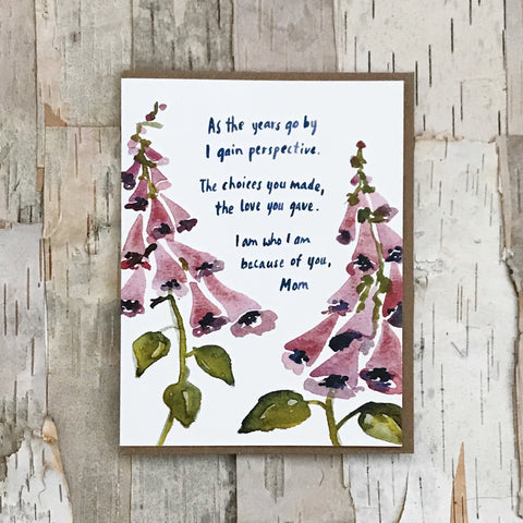 Foxglove Mother's Day Card