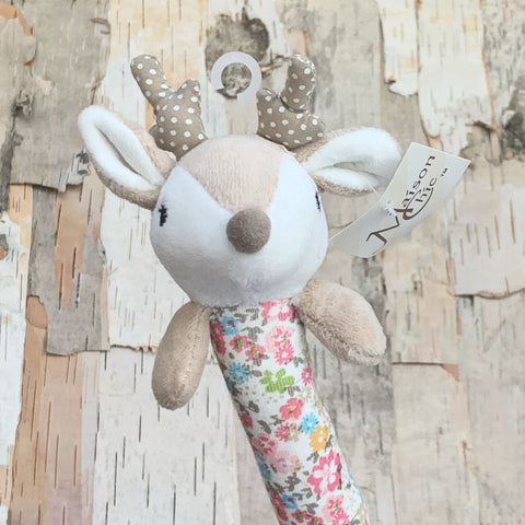Farrah The Fawn Stick Rattle