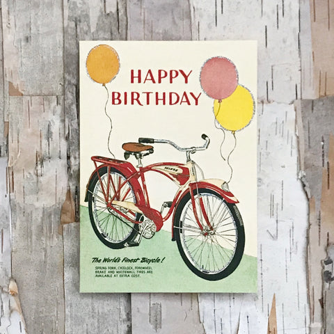 Vintage Happy Birthday Bicycle