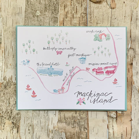 Mackinac Island Map Card