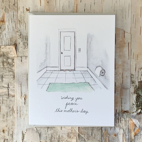 Wishing You Peace Bathroom Card