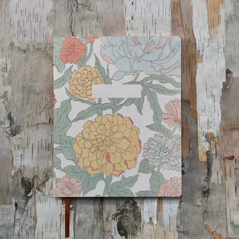 70's Floral Notebook