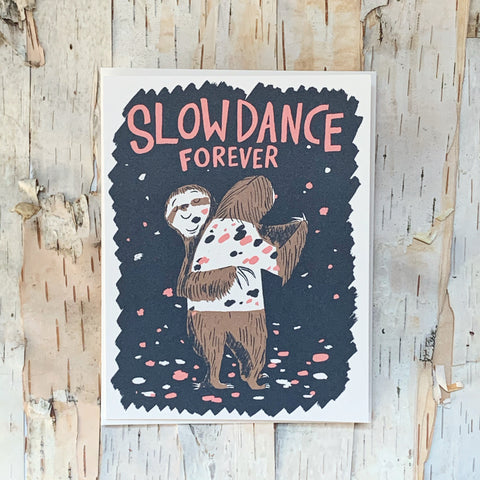 Slow Dance Forever Sloths Card