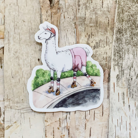 Llama Wilderness Sticker