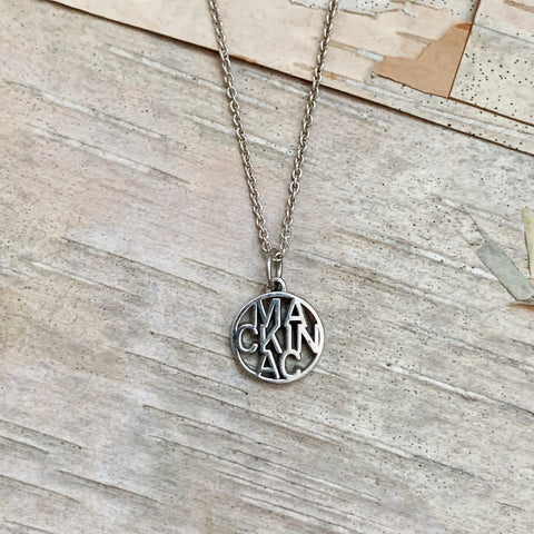Mackinac Word Necklace