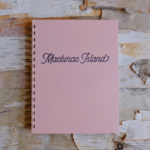 Mackinac City Script Journal Sunset Pink