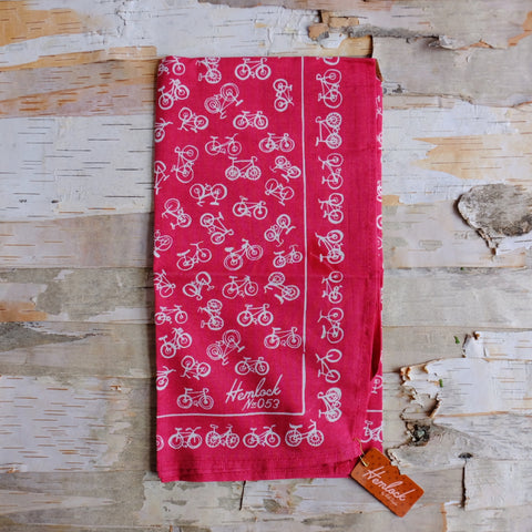 No. 053 Red Bicycle Bandana