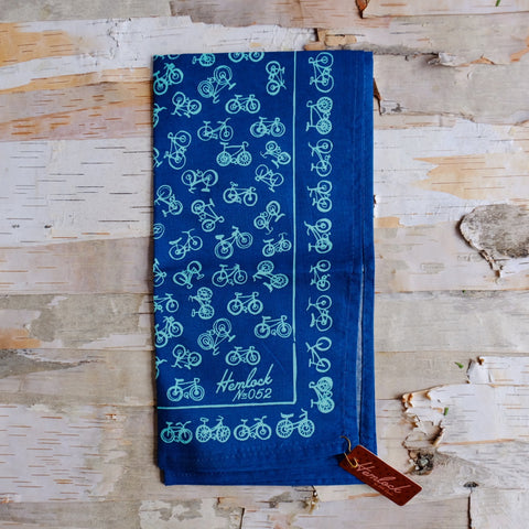 No. 052 Blue Bicycle Bandana