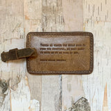 Ralph Waldo Emerson Leather Luggage Tag