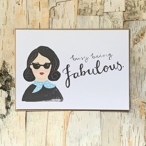 Ellen Busy Being Fabulous Card