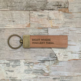 Engraved Wooden Key Ring