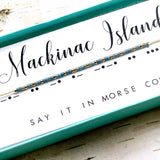 Mackinac Island Morse Code Necklace