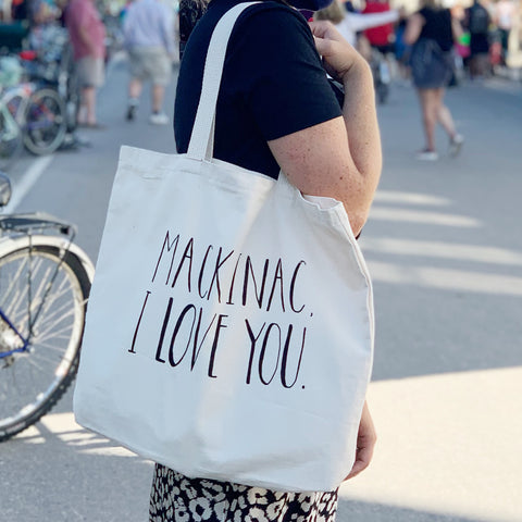 Mackinac, I Love You Tote