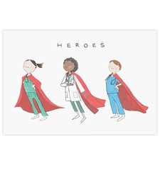 Healthcare Heroes Post Card