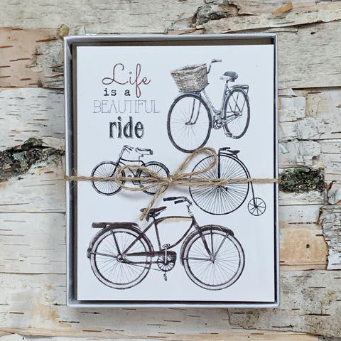Bike Collage Set of 8 Boxed Cards