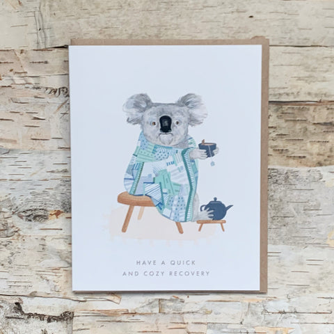 Quick and Cozy Koala Recovery Card