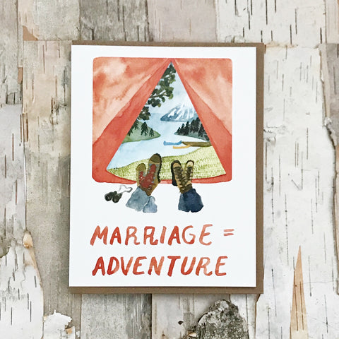 Marriage= Adventure Card