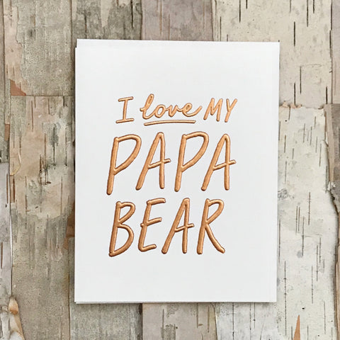 Papa Bear Love Card