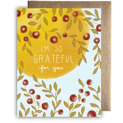 I'm So Grateful Harvest Card
