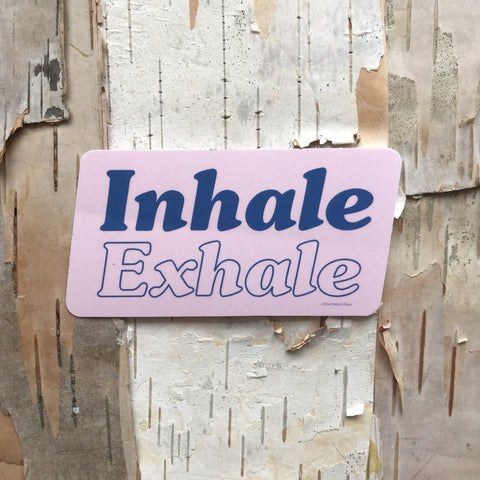 Inhale Exhale Vinyl Sticker