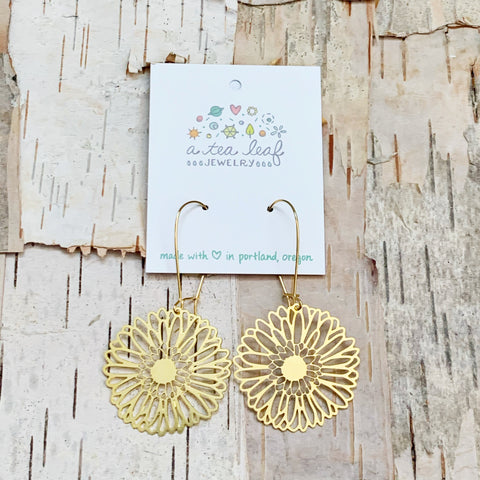 Gerber Daisy Flower Earrings