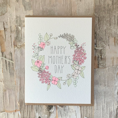 Happy Mother's Day Wreath Card Hartland Brooklyn