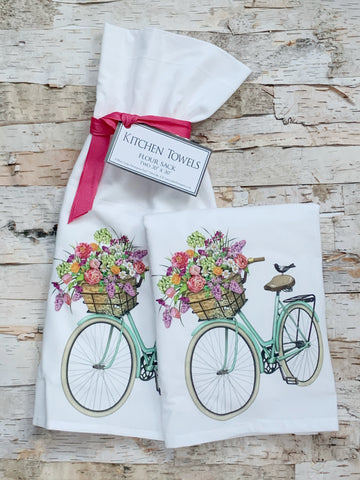Spring Bike Towel Set