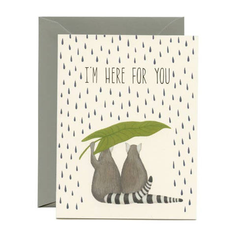 I'm Here For You Lemurs Card