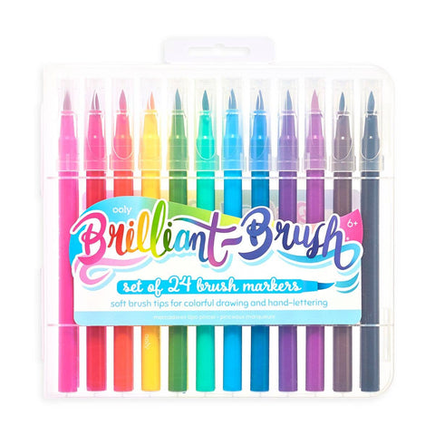 Set of 24 Brilliant Brush Markers