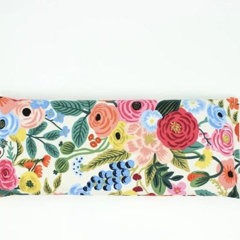 Lavender Eye Pillow in Cream and Pink Floral
