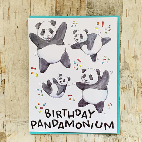 Birthday Panda-monium Card