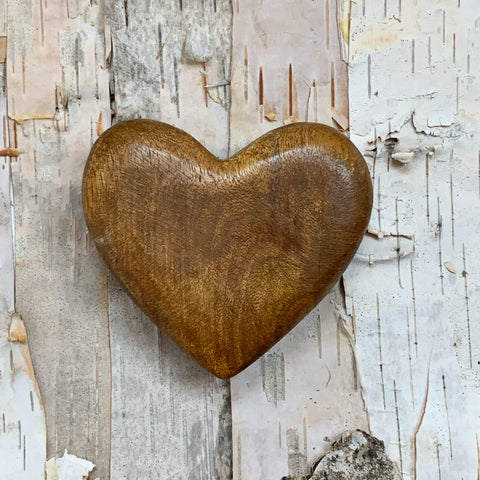 Hand Carved Wood Heart
