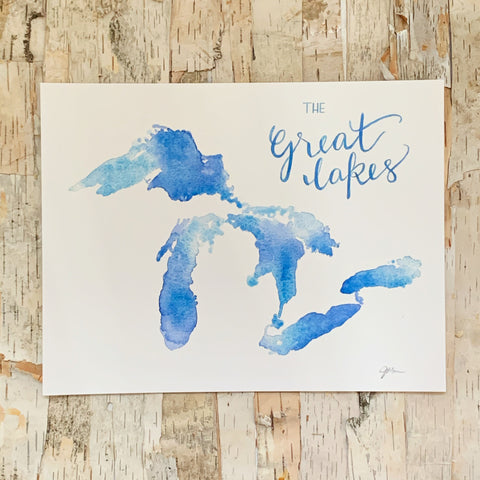 The Great Lakes Art Print