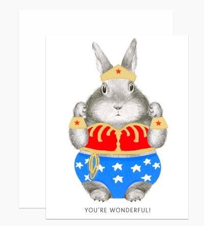 You're Wonderful Wonder Bunny Card
