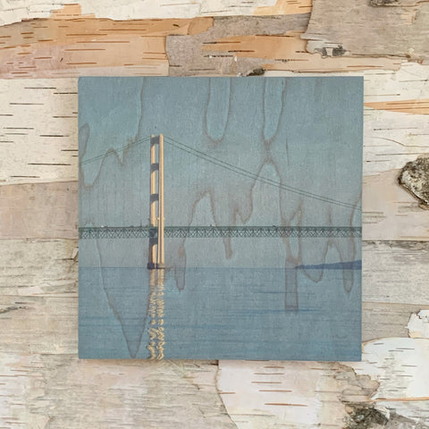 Mackinac Bridge Reflection 7 x 7