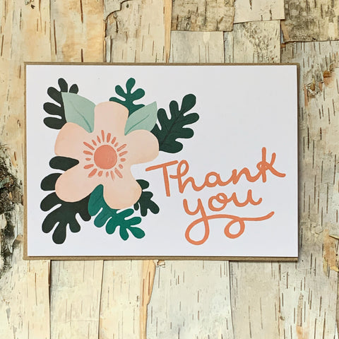 Gwen Floral Thank You Card