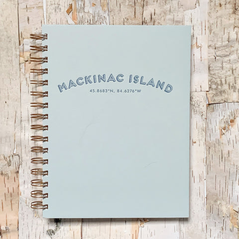 Mackinac Coordinates Journal Ocean Mist