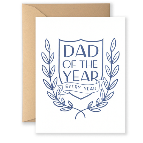 Dad Of The Year Every Year Card