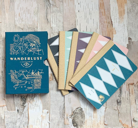 Wanderlust Set of 5 Travel Planners