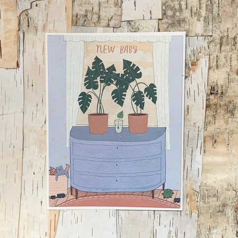 New Baby Nursery Plants Card
