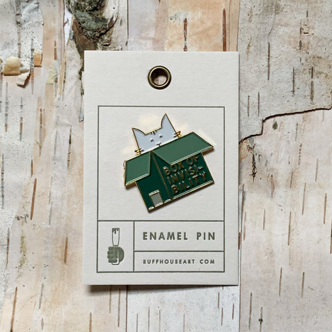 Cat In Box Enamel Pin