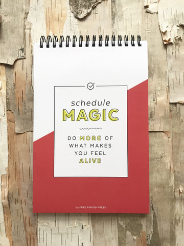 Schedule Magic Daily Spiral Notebook