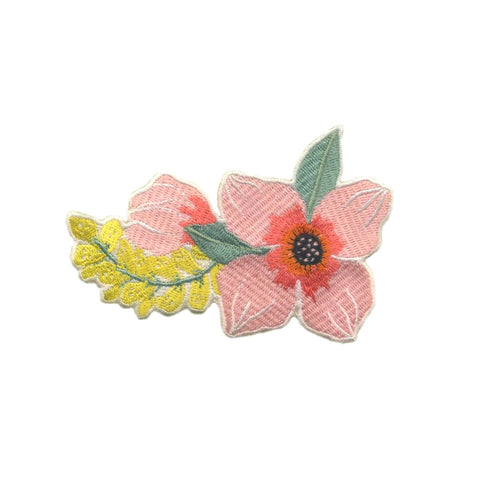 Spring Flowers Embroidered Patch