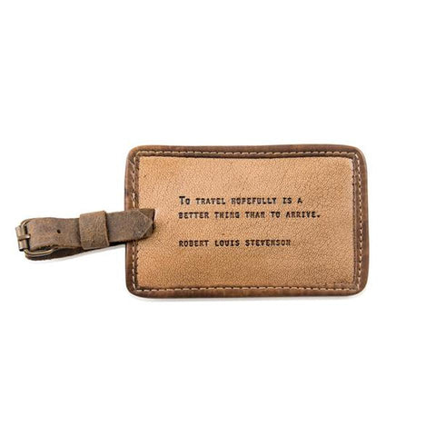Robert Louis Stevenson Leather Luggage Tag