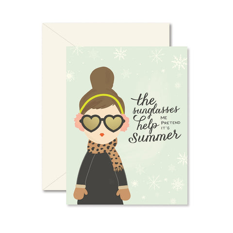The Sunglasses Help Me Pretend Card