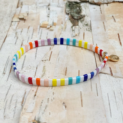 Bright Rainbow Supernova Bracelet